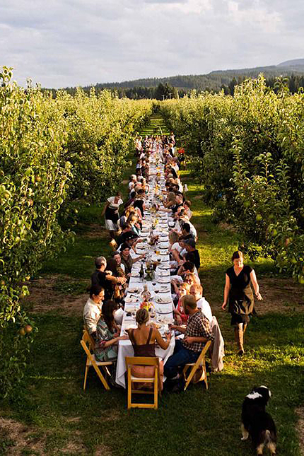 Farm to Fork Dinner at Kiyokawa Family Orchards, Parkdale, OR