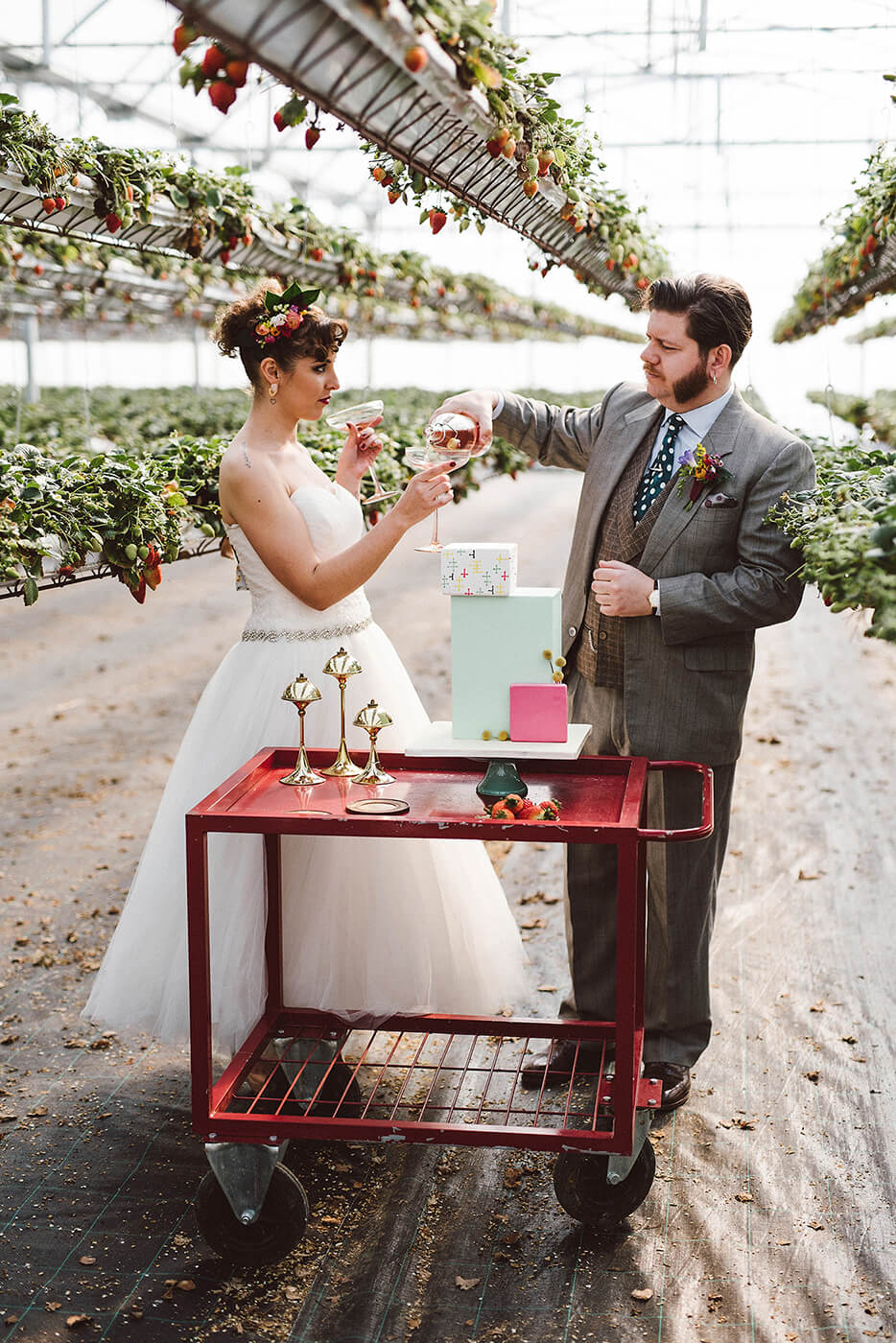 roma-organizacao-eventos-editorial-mid-century-modern-wedding-in-a-strawberry-field-27